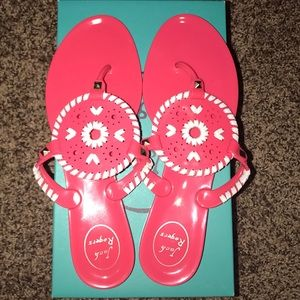 Jack Rogers Georgica Jelly sandals pink size 9